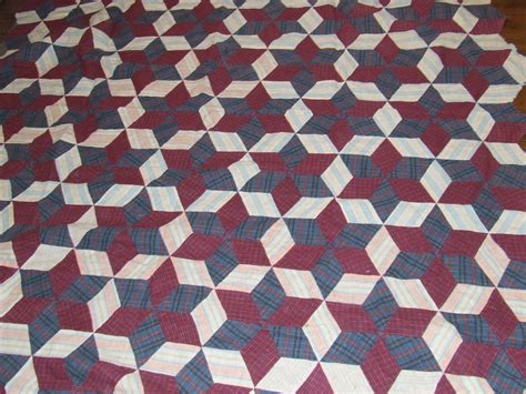 Tumbling Block Quilt Pattern Template by Hexagon Star Tumbling Blocks Variation Pattern Tim