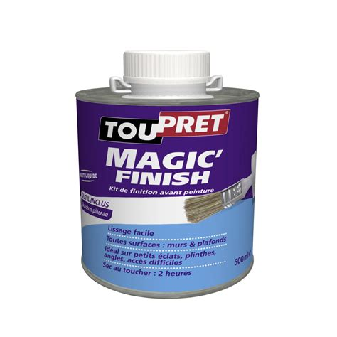 enduit de lissage p 226 te magic finish toupret 500 ml