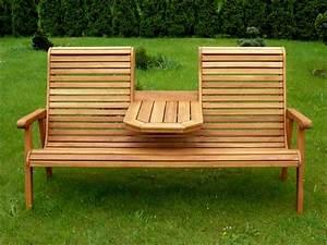 Holz Gartenbank Massiv : gartenbank mit tisch in der mitte my blog ~ Markanthonyermac.com Haus und Dekorationen