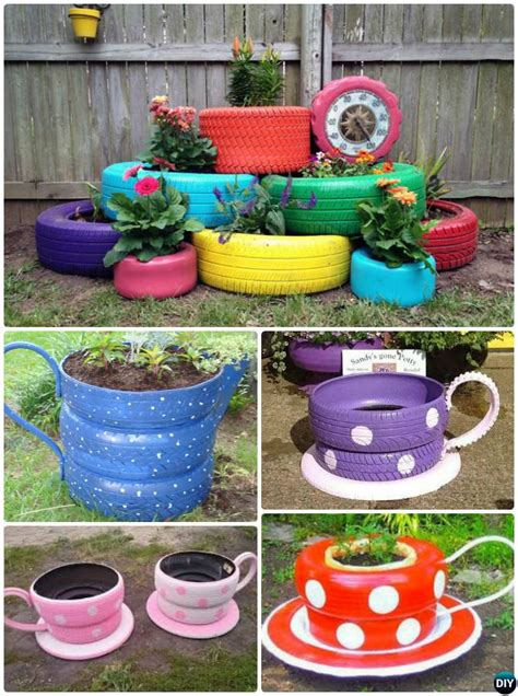 Diy Old Tire Planter Instructions20 Diy Upcycled