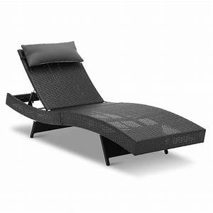 Lounge Sofa Outdoor : 2x wicker rattan outdoor sun lounge furniture pool bed garden furniture sofa ct ebay ~ Markanthonyermac.com Haus und Dekorationen