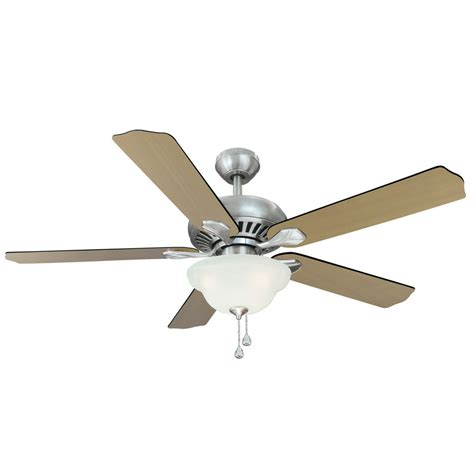 shop harbor 52 in crosswinds brushed nickel ceiling fan with light kit at lowes