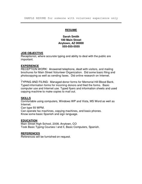 Job Resume Volunteer Experience  Httpwwwsumecareer. Risk Management Resume Samples. Sample Resumes For Mechanical Engineers. Best Online Resume Writers. Writing An Objective On A Resume