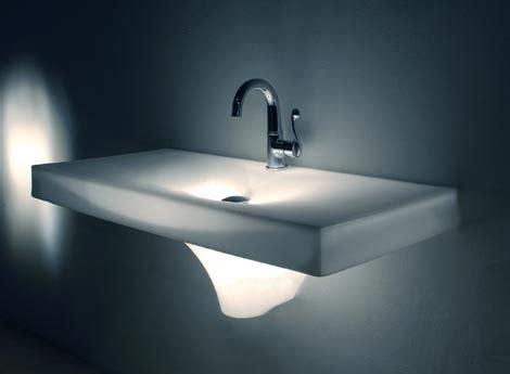 bathroom sink glows in freshome