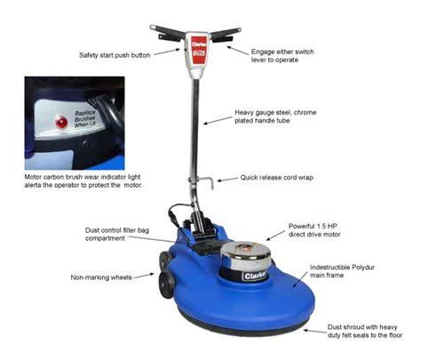 clarke 2000dc high speed floor burnisher 2000 rpm 20