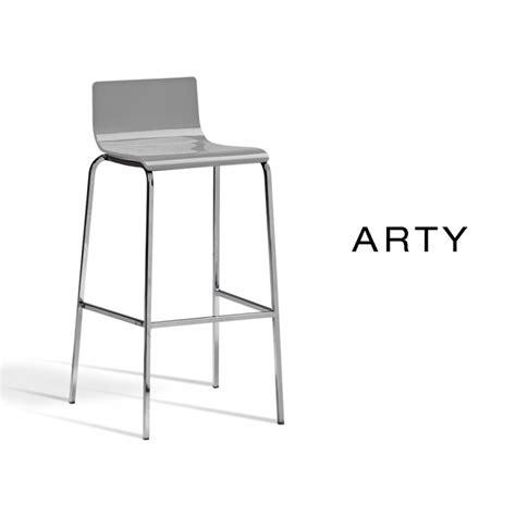 lot de 4 tabourets arty pour cuisine et bar assise plastique pietement acier