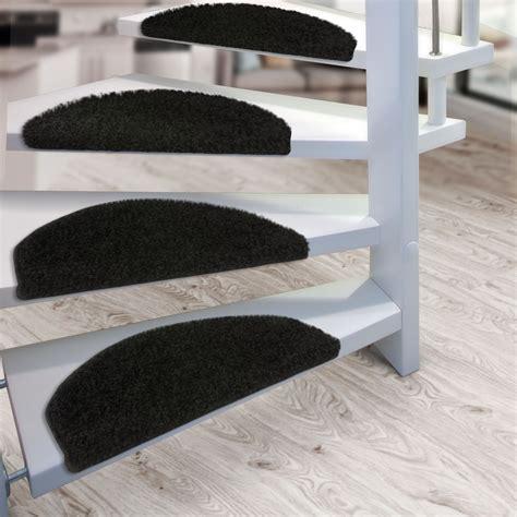 tapis escalier marchettes set de 15 demilune noir tapistar fr