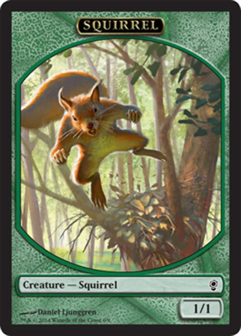 Mtg Squirrel Tribal Deck by Wallpaper Squirrel Token Magic The Gathering