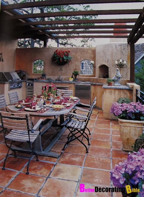 patio decorating ideas photos trendy interior with outdoor kitchen with dining space and marble