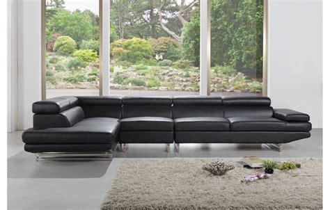 canap 233 en cuir design et moderne de couleur noir teck in home