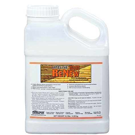 Sodium Percarbonate Wood Deck Cleaner by Wood Renew Log Cleaning Concentrate Logfinish