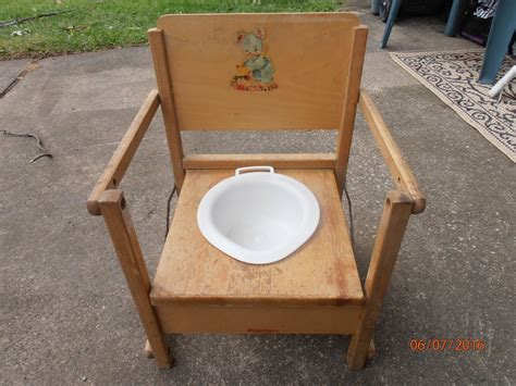 vintage wooden child potty chair with tray antique hedstrom ebay
