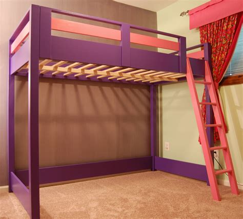 white sleep and play loft bed diy projects