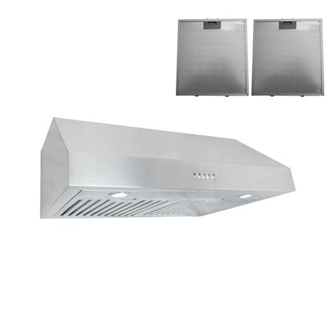 cosmo 30 in ductless cabinet range in stainless steel with led lighting and