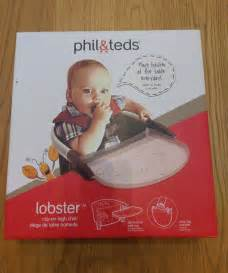 phil teds lobster portable baby high chair seat black
