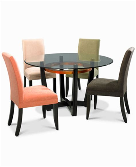 cappuccino dining room furniture 5 set table and 4 microfiber chairs furniture