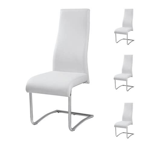 chaise de cuisine en cuir blanc maison design hosnya