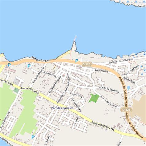 plan port des barques carte ville port des barques