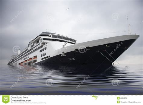 Dream Of Your Boat Sinking by Cruise Liner Sinking In Sea Stock Photo Image Of Going
