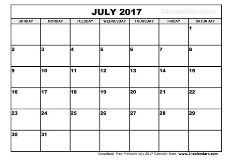 calendar template for june july august 2017 july 2017 calendar printable