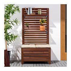 Betonplatten Mit Holzstruktur : sitzbank sichtschutz und pflanzenst nder in einem balkonien pinterest sitzbank ~ Markanthonyermac.com Haus und Dekorationen