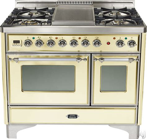 ilve umd100smpax 40 inch traditional style dual fuel range with 4 sealed burners 2 44 cu ft