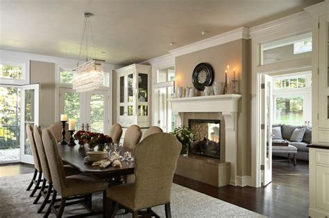 Dining Room With Renovated Two Sided Fireplace Into Porch Sliding Kitchen Cabinet Shelves Vintage Cabinets For Sale Red In Can U Paint Yorktown Installing Yourself Discount Unfinished Cost