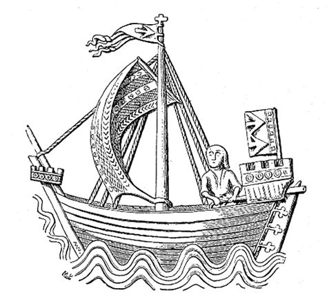 Medieval Boat Drawing by Cog Ship Wikipedia