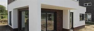 überdachte Terrasse Bauen : moderne stadtvilla mit klinker putzfassade marl unna nrw modernes einfamilienhaus modernes ~ Markanthonyermac.com Haus und Dekorationen