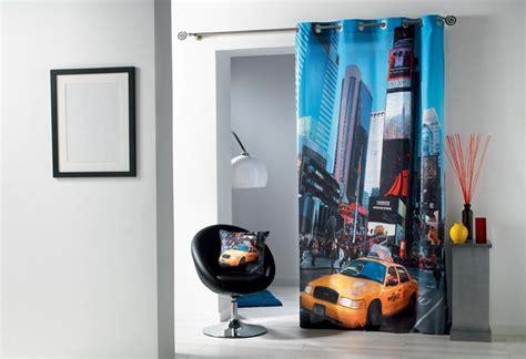 rideau panneau oeillets 140 x 240 cm new york photo taxi bona reva