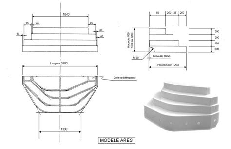 escalier sur liner piscine ares accelo distripool