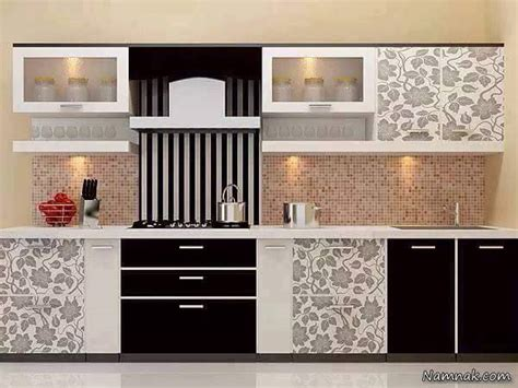 کابینت سفید مشکی , جدیدترین دکوراسیون آشپزخانه لوکس