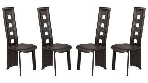 chaise en pvc noir lot de 4 pas cher chaise design