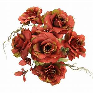 Rose and Alstroemeria Glitter Bouquet - Artificial Silk ...
