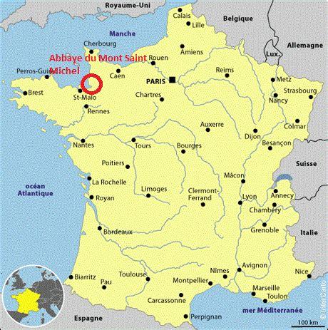 abbaye du mont michel o 249 se situe l abbaye du mont michel