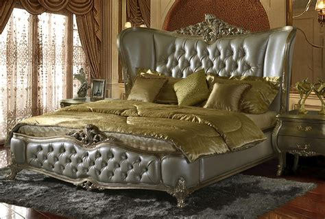 Classic Wing Back Button Tufted Bedroom Collection Hd20