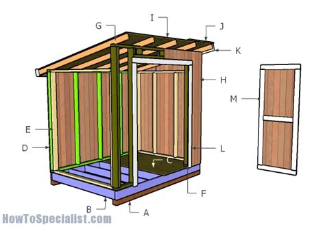 6x8 lean to storage shed plans howtospecialist how to build step by step diy plans