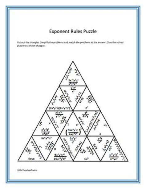 Unit 7 Exponent Rules Worksheet 2 Answer Key  Mitchelleaster Old Links1000 Images About Math
