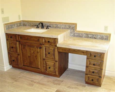 makeup vanity or dressing table mediterranean bathroom los angeles by cedar hill cabinets