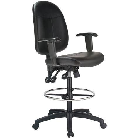 harwick ergonomic leather drafting chair ebay