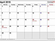 april 2019 calendar with holidays 2018 calendar with