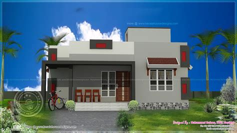 Home Design 900 Square : 900 Sq-ft Low Cost House Plan