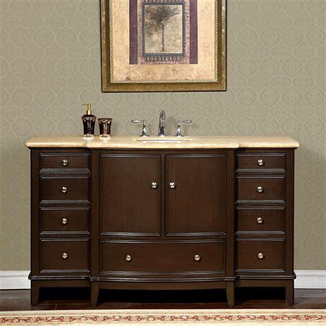60 inch travertine counter top bathroom single sink vanity cabinet 0237tr ebay