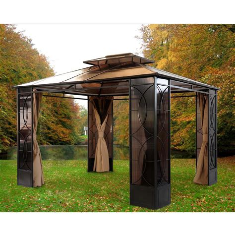 sunjoy rochelle gazebo 10 x 14 outdoor living gazebos canopies pergolas gazebos