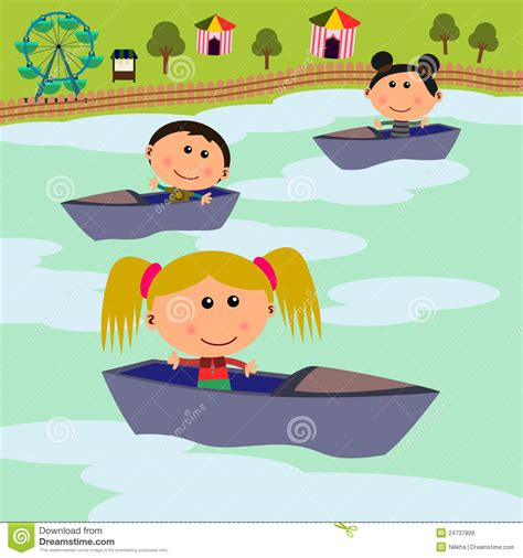 Cartoon Boat Scene by Carnival Scene Boat Ride Royalty Free Stock Images Image