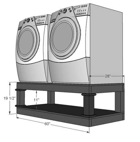 sch 233 ma de construction d un support pour machine 224 laver s 232 che linge avec la place pour les