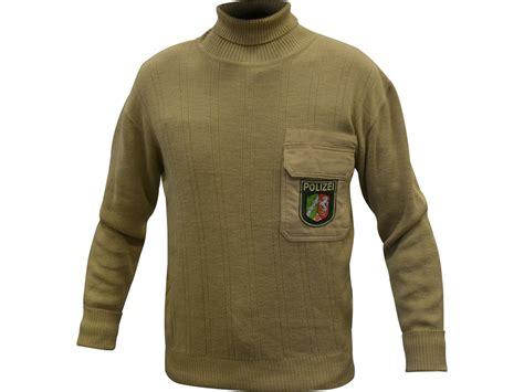 Military Surplus German Police Sweater Turtleneck