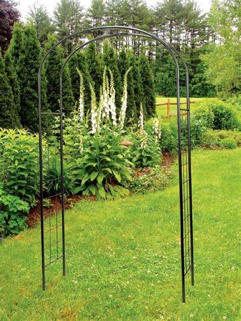 Simple Metal Arbor With Ivy Trellis Contemporary