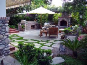 landscape design back patio ideas pictures with outdoor kitchen fireplace and lounge chair with
