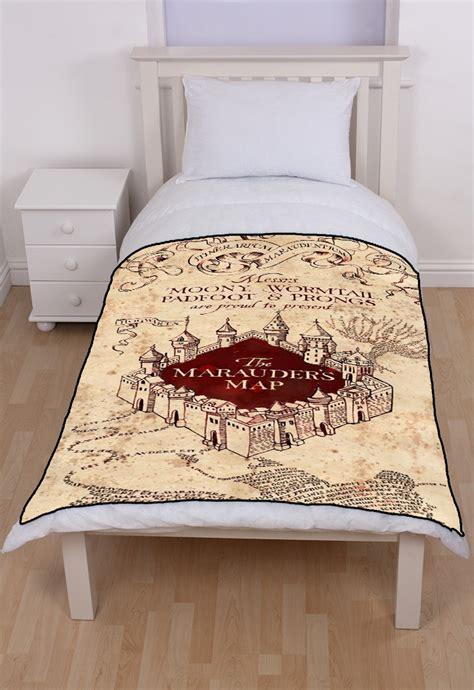 harry potter marauders map fleece throw blanket mycasescovers